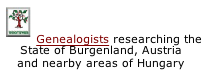 Genealogists researching the State of Burgenland, Austria and nearby areas of Hungary